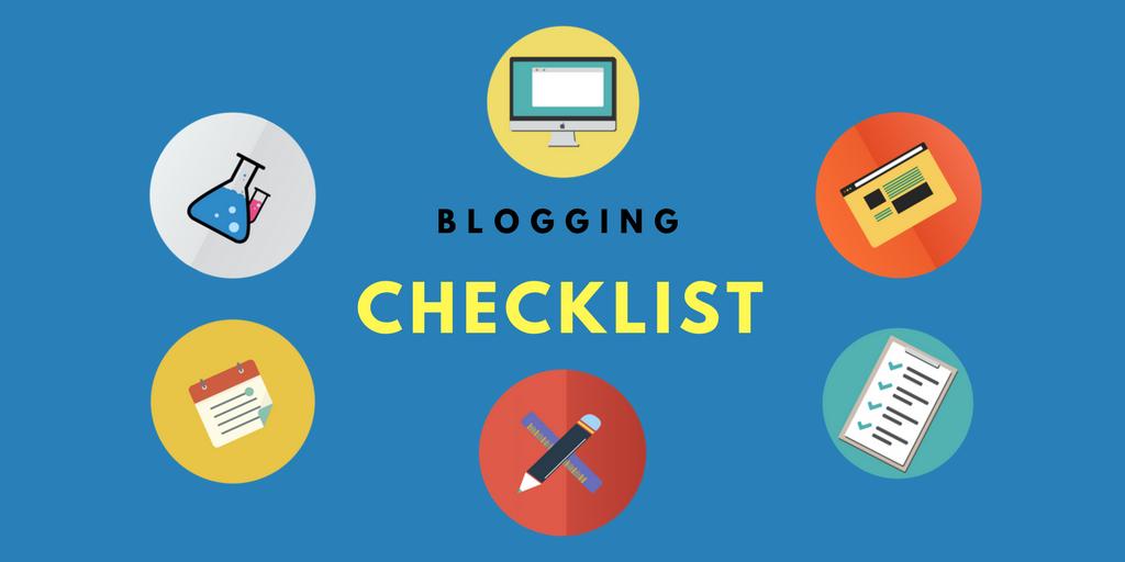 Blogging Checklist to Follow