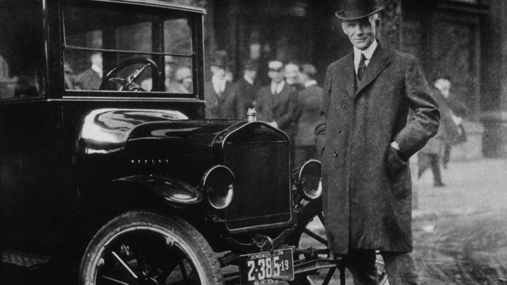 Henry Ford Henry Ford with the Model T