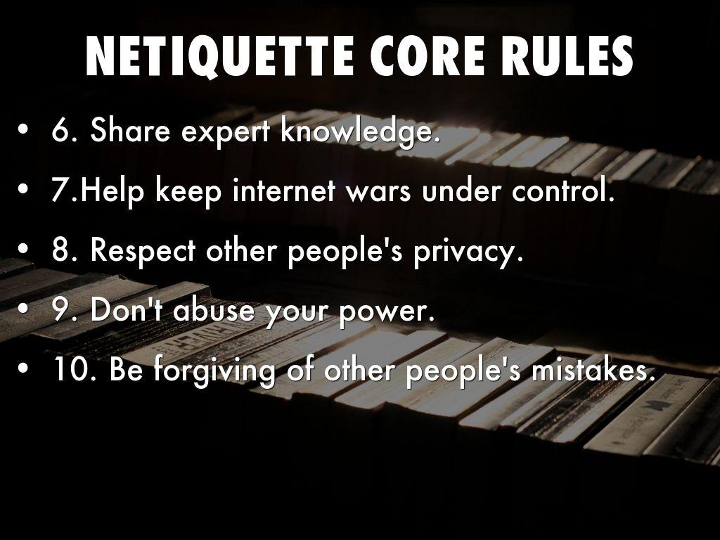 Important Netiquette