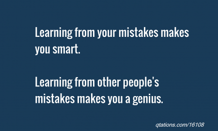 Learning from people's mistakes